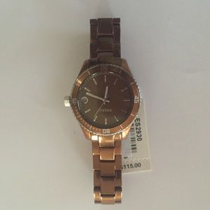 Brown Fossil watch